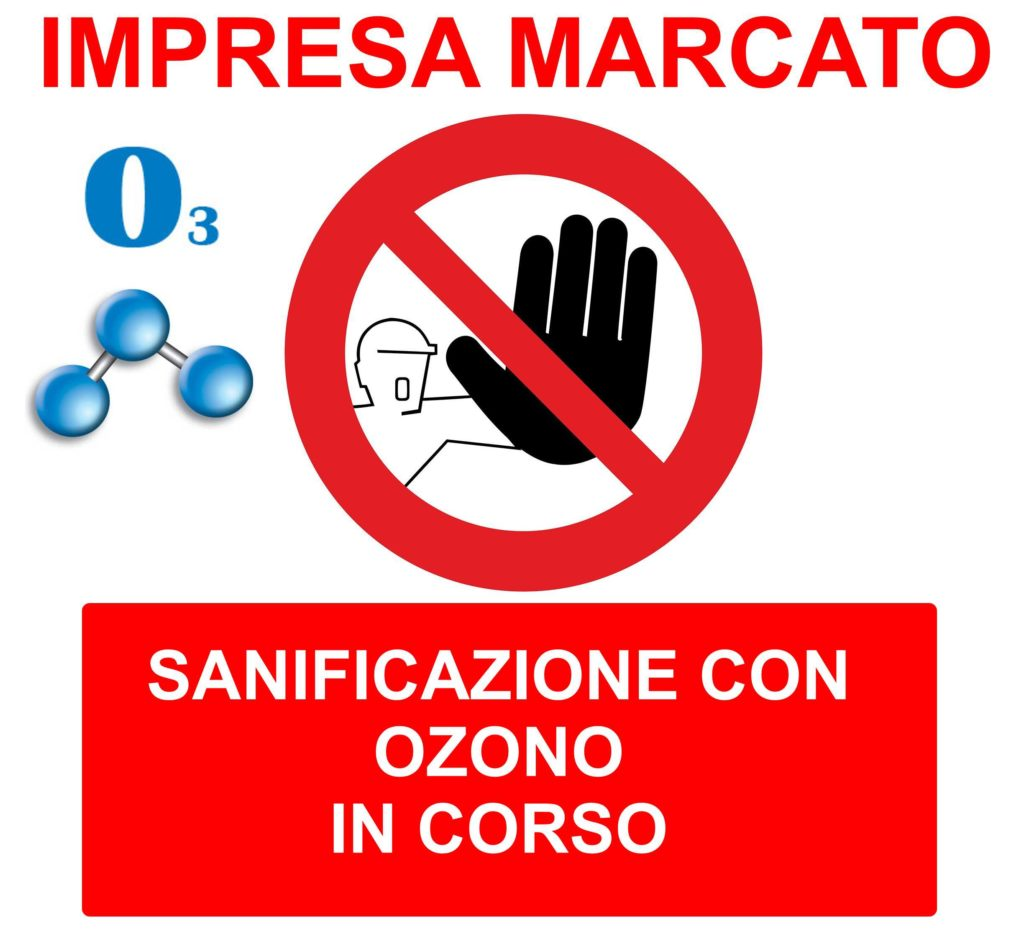sanificazione con ozono in corso